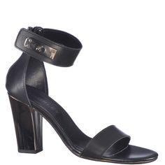 Sandale cu toc inalt de 9,5 cm, marca Thurley de culoare negru metalic. Sunt din piele naturala, piciorul fiind fixat printr-o bareta in partea din fata si acoperis si bareta in jurul gleznei in partea din spate. Platform, Metal, Shoes, Fashion, Moda, Zapatos, Shoes Outlet, Fashion Styles, Metals