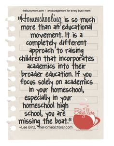 Homeschooling enables families to tap into a wealth of resources to extend and enrich the learning experience--not just through academics, but through all sorts  of hands-on, playful, fun activities