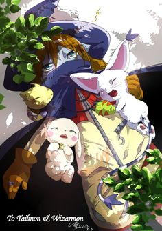 Wizardmon & Tailmon & Salamon & Nyaromon | Digimon Adventure #anime