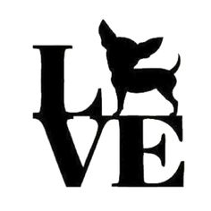 Love Chihuahua Die Cut Vinyl Decal PV744                                                                                                                                                                                 More