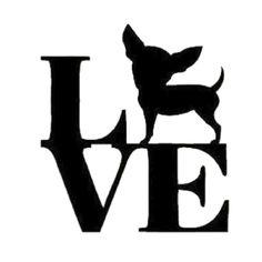 Love Chihuahua Die Cut Vinyl Decal PV744