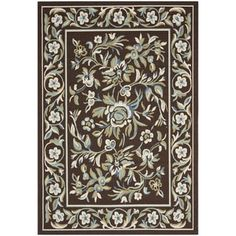 Shop for Safavieh Veranda Piled Indoor/ Outdoor Chocolate/ Aqua Rug (8' x 11'2). Get free shipping at Overstock.com - Your Online Home Decor Outlet Store! Get 5% in rewards with Club O!