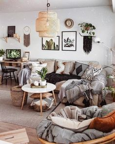 New Stylish Bohemian Home Decor Ideas Boho Living Room, Living Room Decor, Home Decor Bedroom, Diy Home Decor, Decor Inspiration, Decor Ideas, Deco Boheme, Modern Country, Home Decor Styles