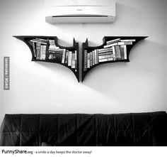 batman bookshelf. yeah i could use this as a dvd holder for the movies, maybe some comic books eh? yes. some batman soundtracks, and a toy or two : )