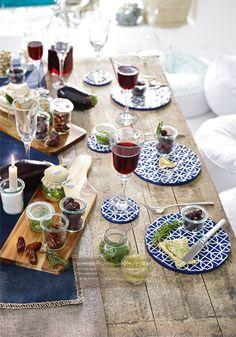 ein mediterran-gedeckter Tisch lässt Deine Gäste verzaubern. #mediterran #urban