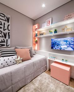 Please Note These Points In Choosing Small Bedroom Furniture – homedecorsdesign Small Bedroom Furniture, Small Room Bedroom, Girls Bedroom, Bedroom Decor, Bedrooms, Dream Rooms, Dream Bedroom, Cute Room Decor, Aesthetic Room Decor