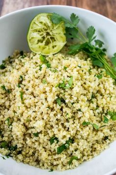 35 Quinoa Recipes To Make Healthy Meals Exciting Quinoa Recipes - Cilantro Lime Quinoa - Easy Salads, Side Dishes and Healthy Recipe Ideas Made With Quinoa - Vegetable and Grain To Serve For Lunch, Dinner and Snack Best Quinoa Recipes, Quinoa Salad Recipes, Healthy Recipes, Healthy Meals, Avocado Recipes, Kale Recipes, Cheap Recipes, Dinner Healthy, Recipes Dinner