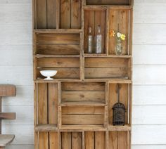 Shelves from apple crates