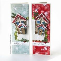 Gingerbread house card... great ideas at this website, though it's not in English