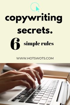 Good copywriting addresses the needs and wants of your audience and will sell your products and services. Get our 6 copywriting secrets here. Writing Advice, Writing A Book, Online Writing Jobs, Content Marketing Strategy, Simple Rules, Le Web, Copywriting, Online Business, Lifehacks
