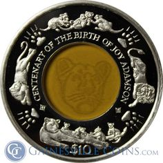 Own a piece of wildlife history with the 2010 Sierra Leone $10 Proof Silver Lion With Crystal. This silver proof coin commemorates the Centenary of the Birth of Joy Adamson. (With Box & COA) http://www.gainesvillecoins.com/category/710/african-and-middle-east-silver-coins.aspx