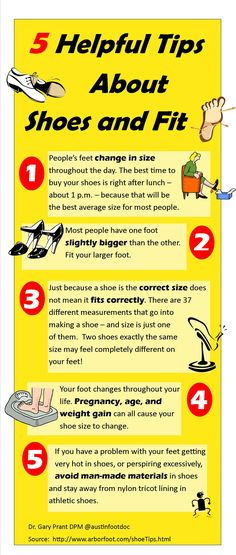 5 Helpful Tips About Shoes and Fit