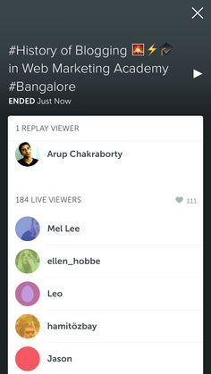 #Periscope - History of Blogging in Web Marketing Academy Bangalore