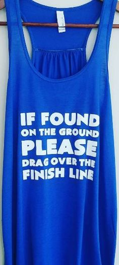 You'll be sure to finish your race in this running tank!