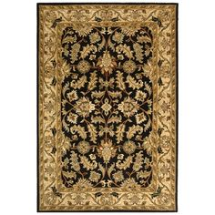 @Overstock - When your floor needs a touch of color, this gorgeous handmade wool rug can fit the space perfectly. Made from 100 percent wool and featuring an exquisitely detailed Oriental pattern, it can take center stage in a room or blend in with existing decor.http://www.overstock.com/Home-Garden/Safavieh-Handmade-Heritage-Kashan-Black-Beige-Wool-Rug-9-x-12/7233783/product.html?CID=214117 $494.09