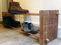 Hey, I found this really awesome Etsy listing at https://www.etsy.com/listing/479705736/industrial-copper-pipe-shoe-rack-from