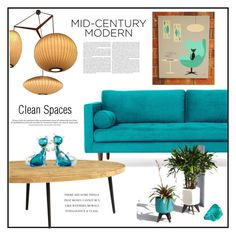 """""""#MID-CENTURY-MODERN"""" by pumsiks ❤ liked on Polyvore featuring interior, interiors, interior design, home, home decor, interior decorating, Joybird, West Elm, Alfredo Barbini and modern"""