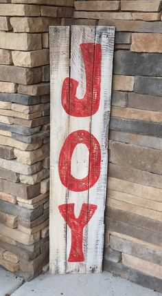 This handcrafted pallet sign is the perfect addition to any front porch. This sign is distressed cream background with red letters but we can customize any colo