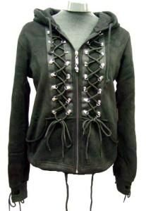 I found 'Living Dead Souls - Bunny Ear Corset Hoodie - Black' on Wish, check it out!