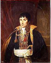 Lucien Bonaparte -   Lucien Bonaparte, Prince Français, 1st Prince of Canino and Musignano (21 May 1775 – 29 June 1840), born Luciano Buonaparte, was the third surviving son of Carlo Buonaparte and his wife Letizia Ramolino.  Lucien was a younger brother of Joseph and Napoleon Bonaparte, and an older brother of Elisa, Louis, Pauline, Caroline and Jérôme Bonaparte. Lucien held genuinely revolutionary views, which led to an often abrasive relationship with his brother Napoleon, who seized…