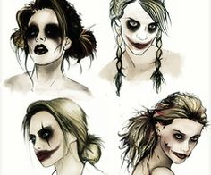 Harley Quinn- Different faces