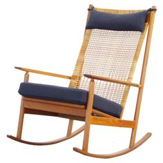 Teak rocking chair by Danish Designer Hans Olsen MODEL 532 A 60s | From a unique collection of antique and modern rocking chairs at https://www.1stdibs.com/furniture/seating/rocking-chairs/