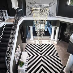 Amazing luxury black and white home interior