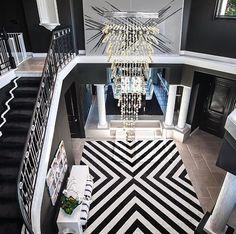 Amazing luxury black and white home interior