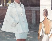 Vogue Sewing Pattern 2668 Flared Swing Jacket & Bare Back Dress by Designer Carmelo Pomodoro