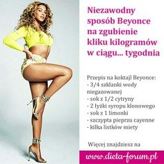 Beyonce, Health And Beauty, Smoothies, Good Food, Health Fitness, Food And Drink, Cocktails, Workout, Humor