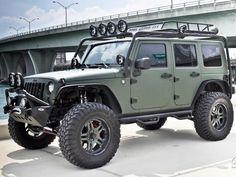 nothing beats a 4 door green jeep wrangler