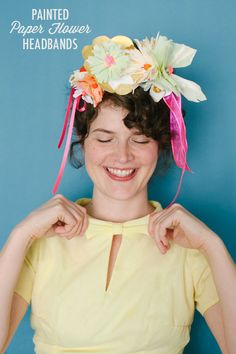 DIY: Painted Paper Flower Headbands