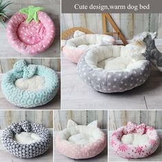 Soft Round Pet Bed for Small and Medium Size Stay In Bed, Pet Costumes, Sleeping Dogs, Cat Furniture, Homemade Dog, Pet Clothes, Dog Accessories, Large Dogs, Guinea Pigs