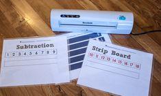 Subtraction Strip Board - ResearchParent.com