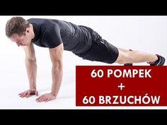60 Pompek (5 technik) + 60 Brzuchów (4 ćwiczenia) - YouTube
