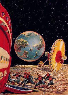 Vintage Sci-Fi art by R. Paul.