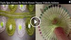 Toplu İğne Kutusu İle Havlu Kenarı Yapımı Videolu Anlatım Irish Crochet, Hand Fan, Hair Pins, Crochet Patterns, Embroidery, Knitting, Tenerife, Youtube, Towels
