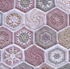 Crochet Hexagonal shapes for Baby Blanket