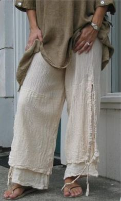 Plus Size Women Linen Casual Pants Solid Cotton Summer Bottoms - Bas Femme Ropa Shabby Chic, Moda Boho, Plus Size Pants, Loose Pants, Style Casual, Linen Pants, Linen Blouse, Blouse Dress, Mode Inspiration