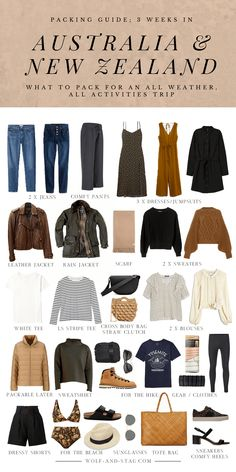 Packing Light: The Ultimate Packing List for 3 Weeks in Australia and New Zealand Clothing Hacks, Clothing Items, Fall Outfits, Cute Outfits, Fall Capsule Wardrobe, Fashion Capsule, Packing Light, Jumpsuit Dress, White Tees