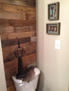 Bathroom Pallet Wall