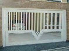 portas para garagem de vidro - Pesquisa Google Steel Gate Design, Front Gate Design, Main Gate Design, Door Design, Front Gates, Entrance Gates, Stainless Steel Gate, Pergola Decorations, Window Grill Design