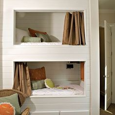 More built-in bunk beds by rena