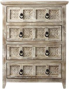 Printblock Dresser - Solid Wood Dresser - 6-drawer Dresser ...