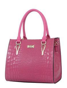 Chic Medium Leather Handbag - Pink