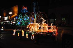 Kiwanis Christmas Lighted Parade in Sulphur, Louisiana