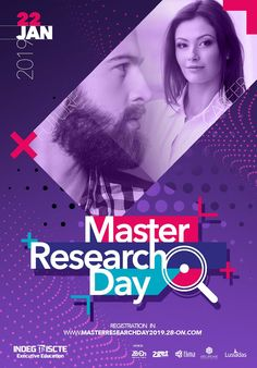 Organiza o Master Research Day 2019 Inbound Marketing, Marketing Digital, World Trade Center, Research, Day, Poster, Search, Billboard, Science Inquiry