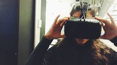 An awesome Virtual Reality pic! Oculus baby  #selfmade #rollercoaster #virtualreality #fun #tech #selfie #oculus #dizzy #interactive #industry #vsco by gracihr check us out: http://bit.ly/1KyLetq