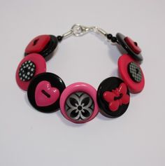 bracelet made from buttons!