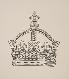 Magpie Prince Crown Illustration (Screen Print)